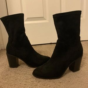 Shoes - sock boots with heel
